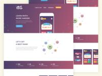 MathLounge App Website Design