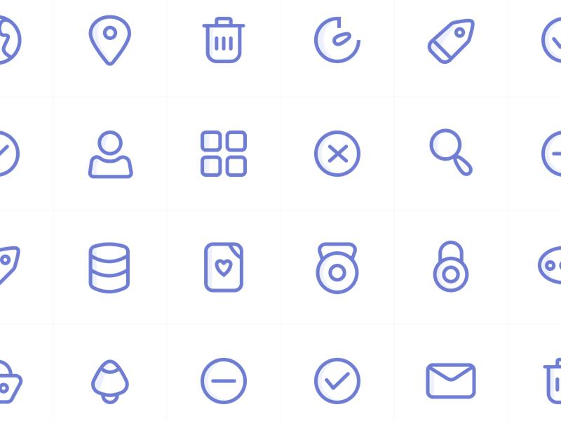Avacons 1.0 illustration mobile website icons ui design