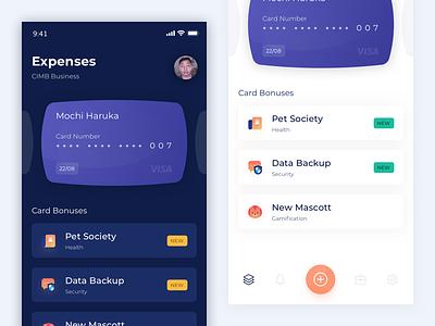 Bank Expenses icons angga risky ux ui app wireframe illustration mobile ui design
