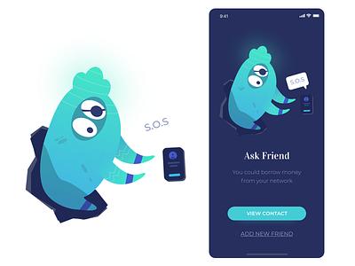 Borrow Money app icon ui angga risky wireframe illustration mobile ui design
