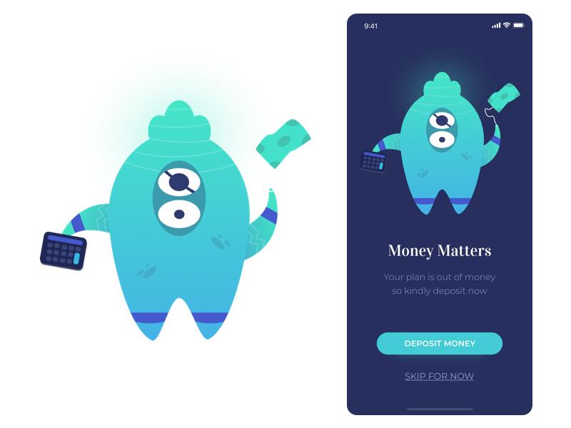 Out Of Money design app mobile angga risky wireframe illustration ui design