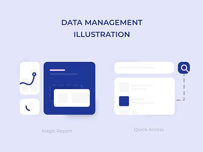 Data Management Illustration ui design empty state illustration
