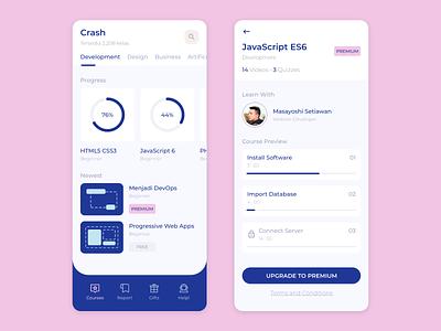 CrashCourse App ios app mobile ui design