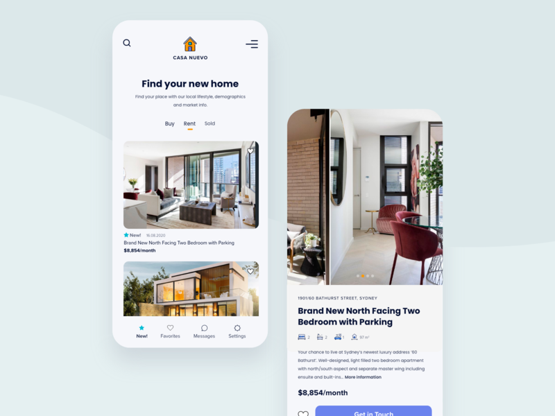 Real Estate App Concept :) realestate real estate branding menu mobile app clean app design gallery icons design rent living casa logodesign uxdesign ui concept home mobile design appdesign app real estate