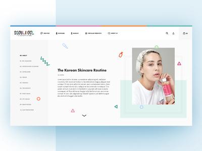 Seoul Kool icons pastel memphis minimal colorful web ecommerce skincare cosmetics beauty