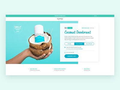 Kopari Beauty Deodorant home header page landing natural coconut website web ecommerce skincare deodorant beauty