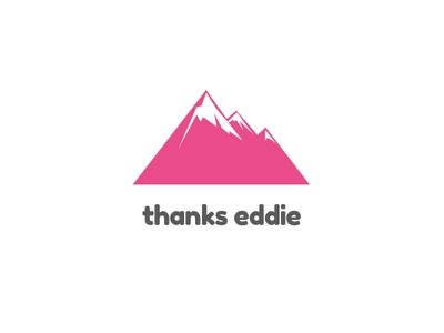 Sup dribbble pink summit mountains logo lobanovskiy eddie thanks welcome hello debuts