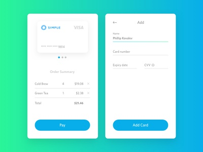 Credit Card Checkout daily ui minimal clean simple payment order credit card credit card checkout mobile