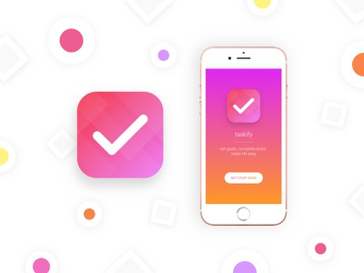 App icon - To do list app daily ui app icon mobile branding gradient shapes circle ux clean simple