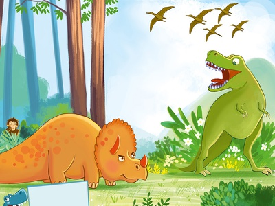 Dinosaurs educational illustration dinosaurs