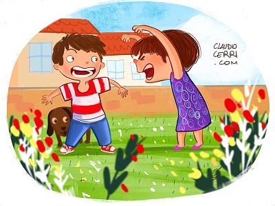 Scream picture book flower pet illustration fun play children