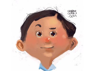 Boy portrait fun illustration boy