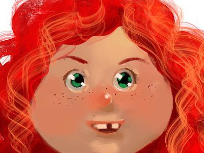 Girl portrait fun girl red hair