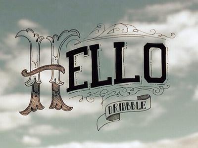 Hello Dribbble! lettering handdrawntype typography typeface