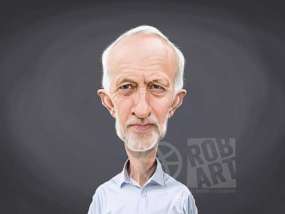 Jeremy Corbyn leader british beard gernment portrait photoshop labour parliament politics jeremy corbyn celebrity caricature