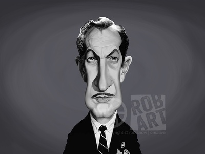 Vincent Price cinema film illustration portrait movies star caricature celebrity actor horror hammer vincent price