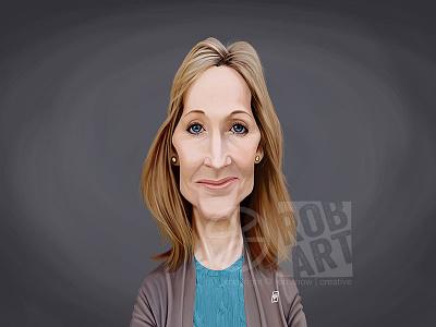 J K Rowling wizard fantasy scifi harry potter celebrity caricature literature novel book writer author j.k.rowling
