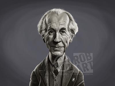 Frank Lloyd Wright vintage portrait building design art american designer architect frank lloyd wright celebrity caricature