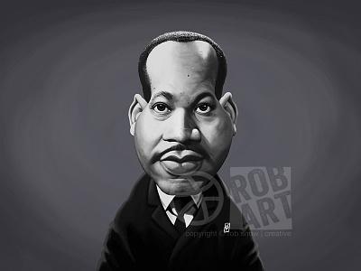 Martin Luther King digital art illustration portrait mlk vintage black movement civil rights leader politician martin luther king celebrity caricature
