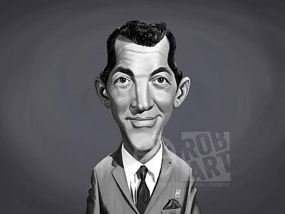 Dean Martin crooner singer music portrait cinema movies film hollywood actor dean martin celebrity caricature