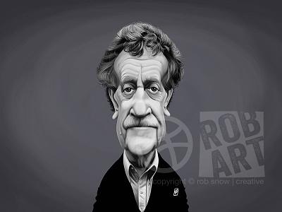 Kurt Vonnegut scifi viintage celebrity literature caricature books writer author kurt vonnegut