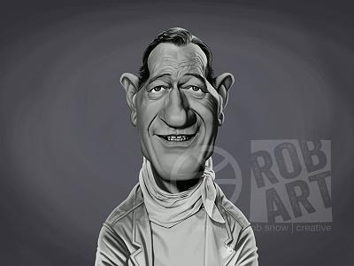 John Wayne western vintage illustration hollywood portrait cinema film movies celebrity caricature john wayne