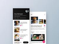 👨🏻🍳Cookbook UI ui marketplace leftaligned design app ux minimal clean