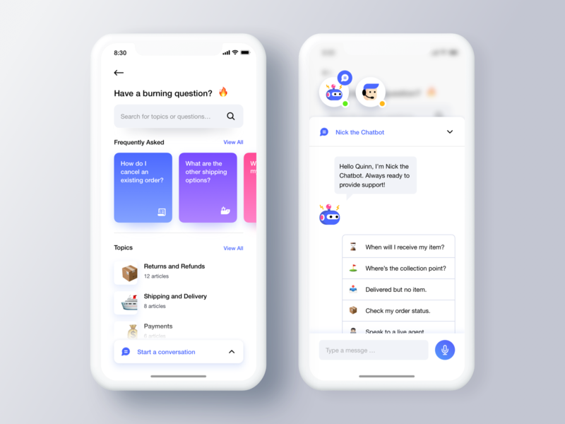 Help Center 👨🏻‍💻 marketplace interface leftaligned design app ux minimal clean ui