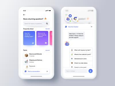Help Center 👨🏻💻 marketplace interface leftaligned design app ux minimal clean ui