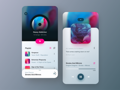 🎵 play lights cart minimalism gallery interface leftalign marketplace music app music player leftaligned design app minimal mobile ux player music clean ui