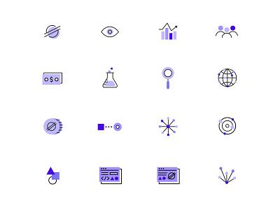 Stellar Site Icons crypto blockchain iconography icons illustration