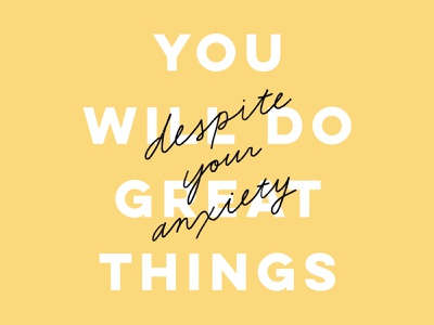 Daily Mantra mantra hand lettering typography lettering mental health anxiety