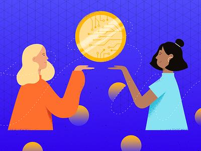 Hispanic/LATAM Women in Blockchain illustration women blockchain blog tech