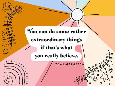 Toni Morrison lettering quotes line art toni morrison hand lettering illustration
