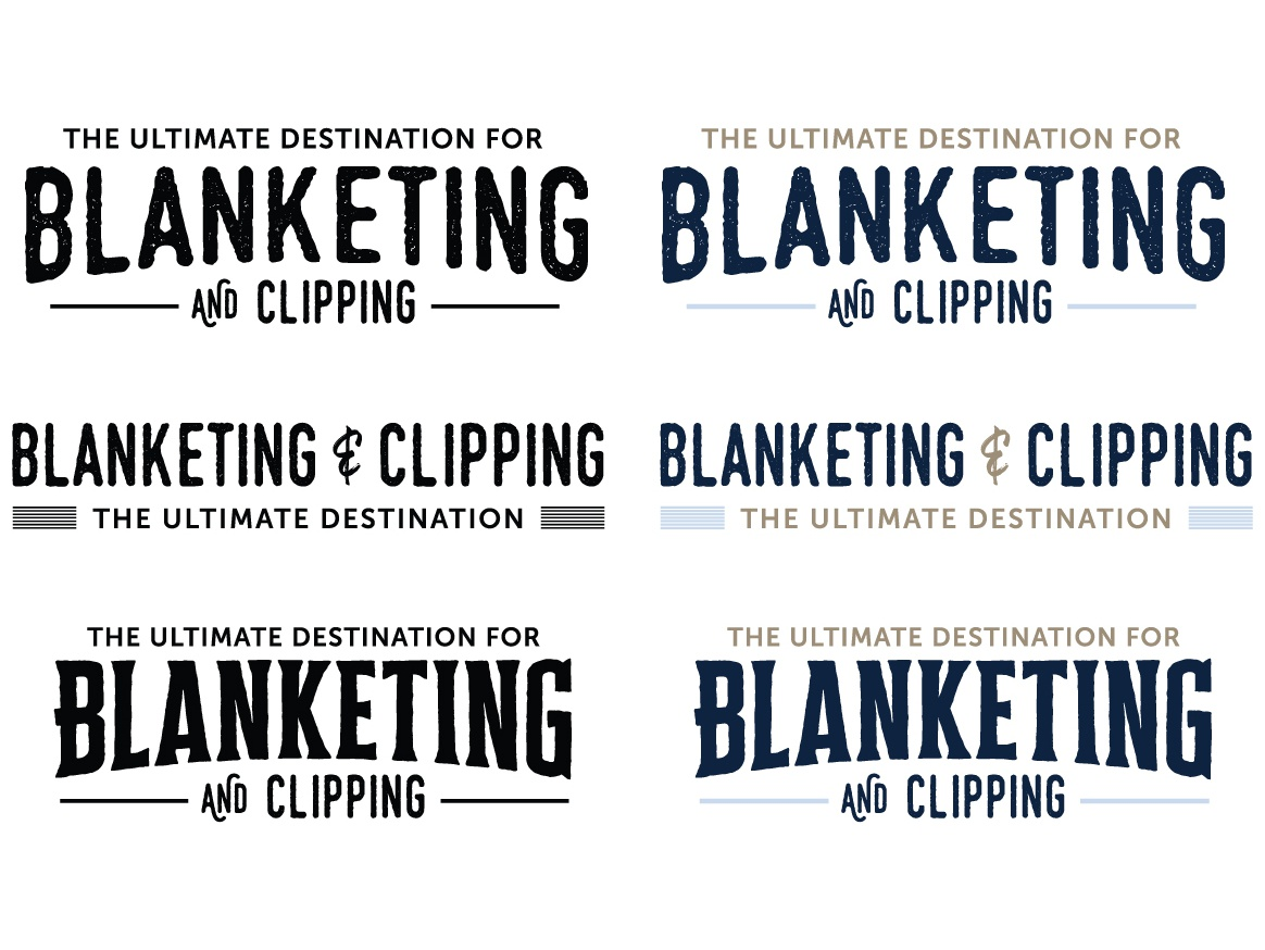 Blanketing & Clipping - Logo Concepts