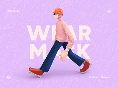 Fashion vector animation illustrator 3d typogaphy design illustration fashion marvelous designer c4d