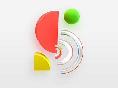 S Logo graphic design logo 3d c4d typography design