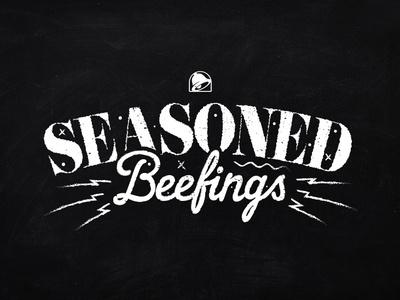 Seasoned Beefings illustrator vector design lettering typography