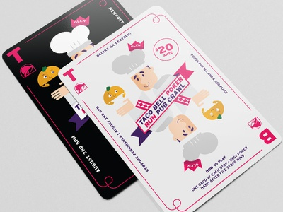 Taco bell Playing Card character playing card card illustrator illustration graphic design typography design