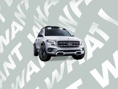 Mercedes Benz graphic design poster branding c4d typography design