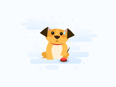 Illustration for BetterDesign_no saved poll yet dog icons web ui simple polls material design illustration empty state clean