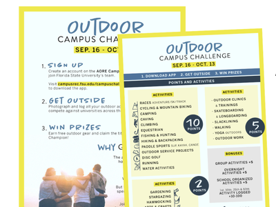 AORE Campus Challenge flyer campus outdoors aore campus recreation