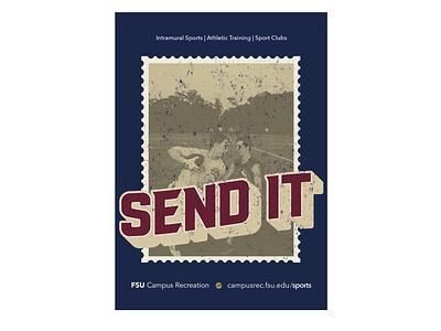 Send It Postcard postcard intramural sports sports campus recreation