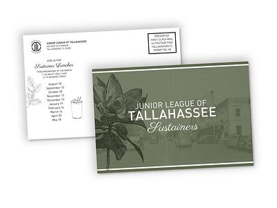 Junior League Sustainer Mailer print mail postcard sustainer tallahassee junior league