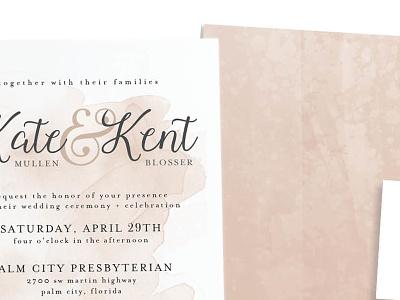Wedding Invitation watercolor texture wedding