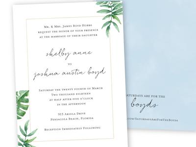 Boyd Wedding Invitation wedding invitation wedding