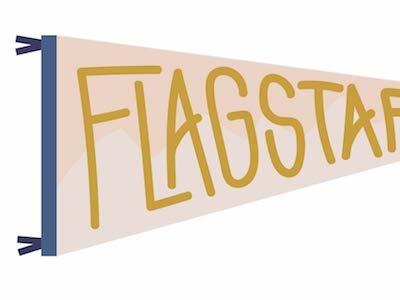 Flagstaff Pennant Illustration travel flagstaff illustration pennant