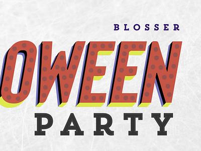 Halloween Party Invitation lettering invitation party halloween