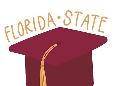 Florida State Graduation Illustration tallahassee florida state university graduation illustration