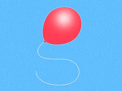 g balloon illustration 36daysoftype